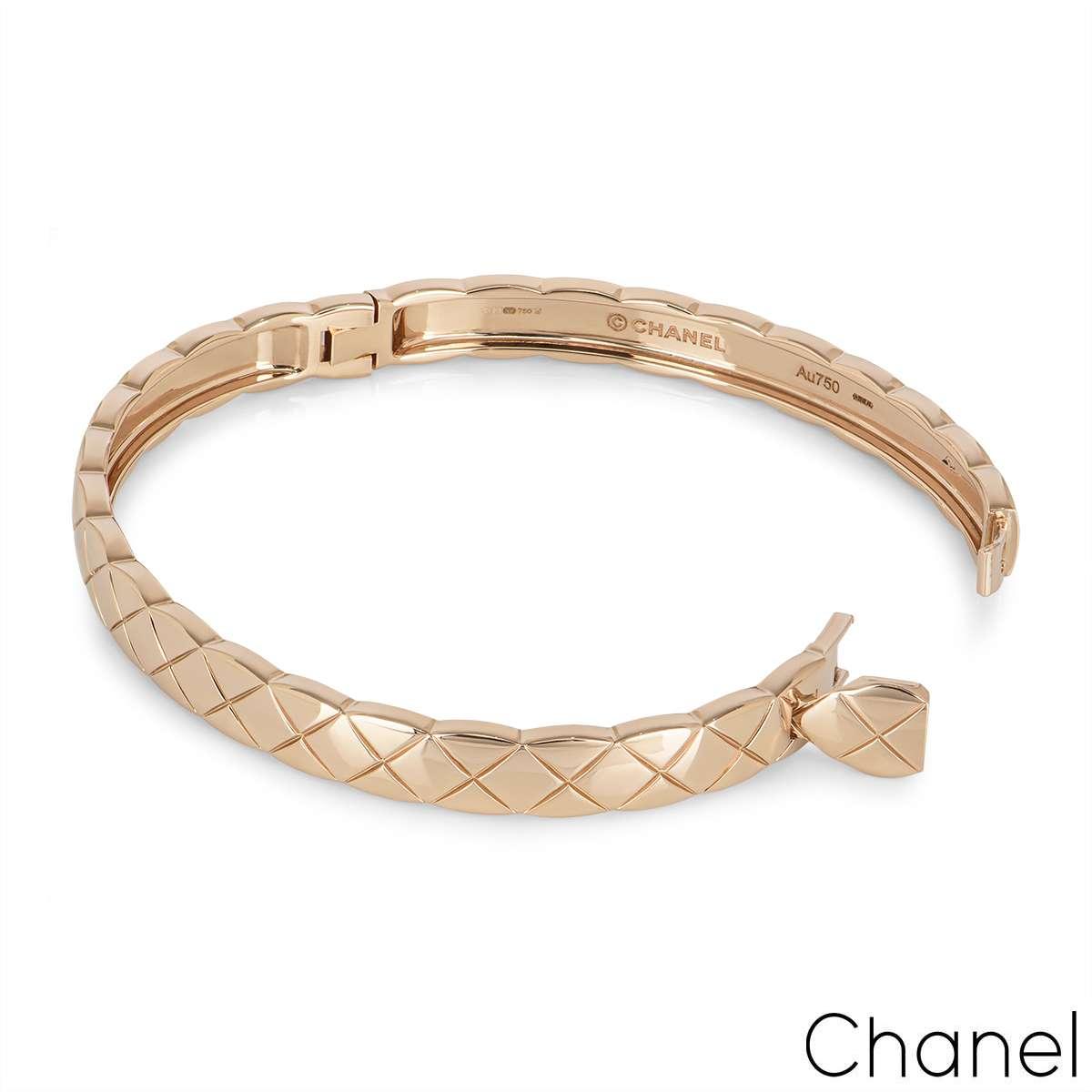 Chanel Beige / Rose Gold Coco Crush Bracelet J11333